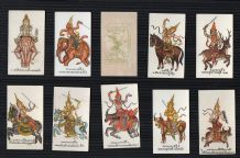 Collectible Siamese Tobacco cigarette cards set Siam Mythology